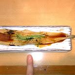 giant unagi at Sushi Zanmai in Roppongi in Tokyo, Tokyo, Japan