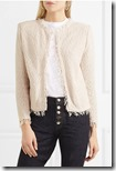 IRO cotton boucle frayed edge jacket