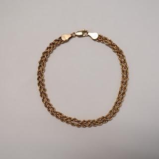 14K Gold Double Rope Chain Bracelet