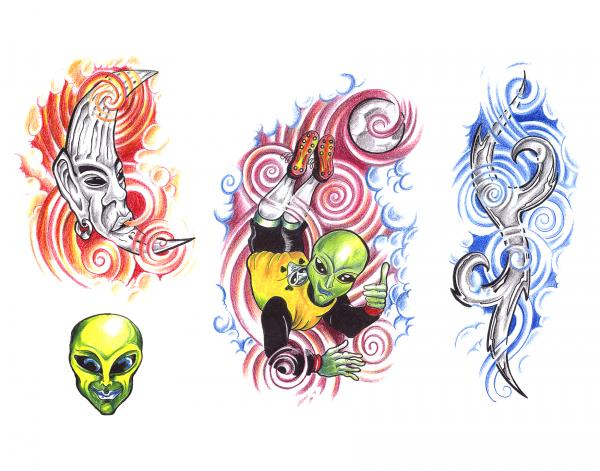 Horror Tattoo Design 12, Fantasy Tattoo Designs