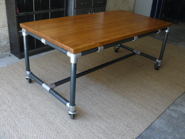 Grande table industrielle mai - Table atelier industriel ...