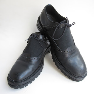 Lanvin Black Leather Derby Brogues