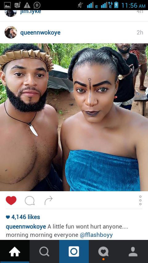 Queen Nwokoye Looks Gorgeous on Set