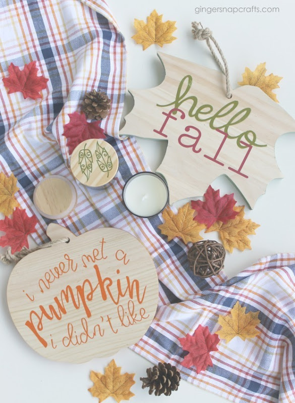fall crafts with Cricut