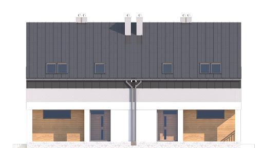 Mazur bez garażu bliźniak B-BL1 - Elewacja przednia