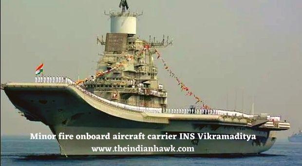 Defence News India, Minor Fire on INS Vikramaditya
