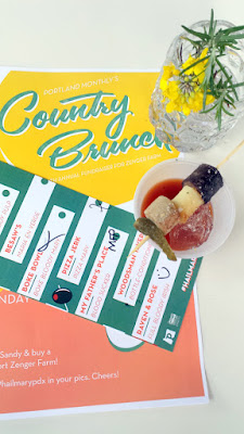 Portland Monthly Country Brunch 2016 - Last year's winner of the Bloody Mary Smackdown Raven and Rose returns with the Full Bloody Irish that includes a Bloody Mary topped with Oregon made (Agrarian Ales) Irish Stout AND bites of a Irish Breakfast for garnish and wins the 2016 Judge's Choice and People's Choice
