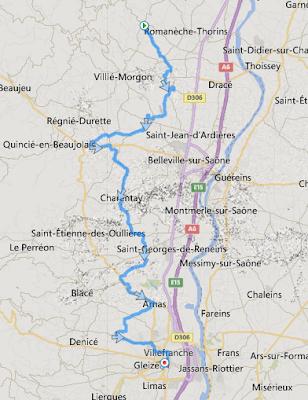 Marathon du Beaujolais 2015 - parcours