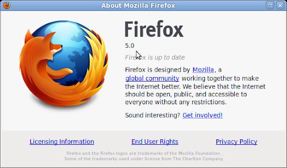 Ubuntu Mozilla Firefox 5.0