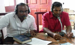 Lakmal and Joel translating into Tamil and Singhala