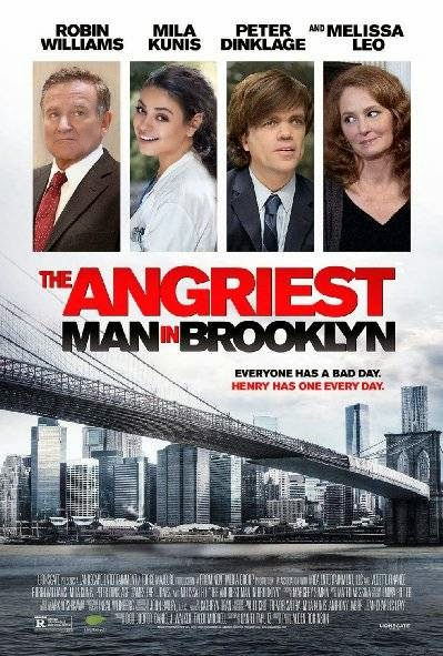 Poster Of English Movie The Angriest Man in Brooklyn (2014) Free Download Full New Hollywood Movie Watch Online At Alldownloads4u.Com
