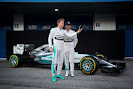 Mercedes W06 with Lewis Hamilton and Nico Rosberg