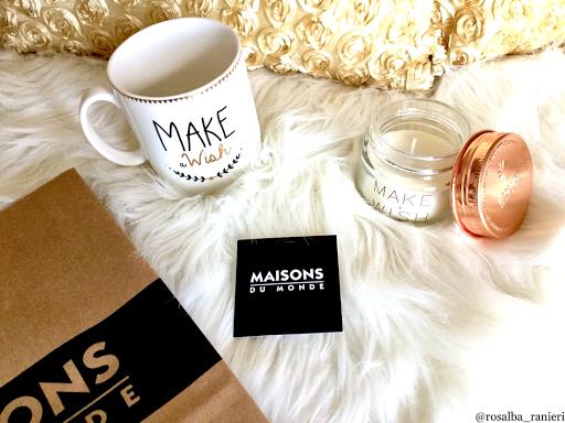 Cosa ho comprato da Maisons du monde: una tazza e una candela profumata