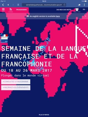 Semaine de la langue Française et de la Francophonie French Village Diaries Jean Maillet Melle