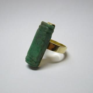 18K Gold and Jade Ring