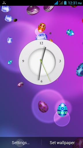 Easter clock live wallpaper