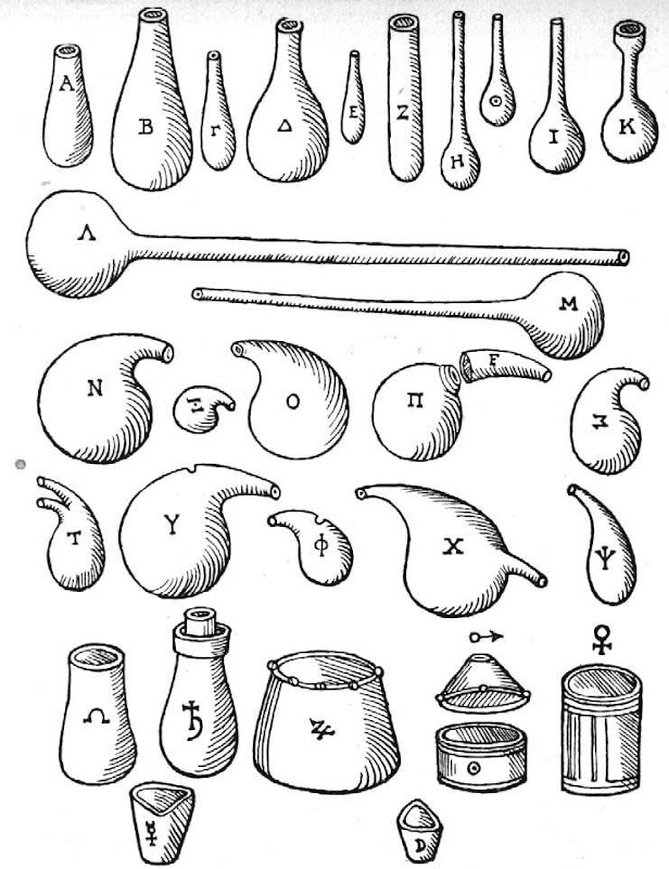 Chemical Utensils From Andreas Libavius Alchymia 1606, Alchemical Apparatus