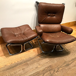 Ingmar Relling for Westnofa Lounge Chair and Ottoman