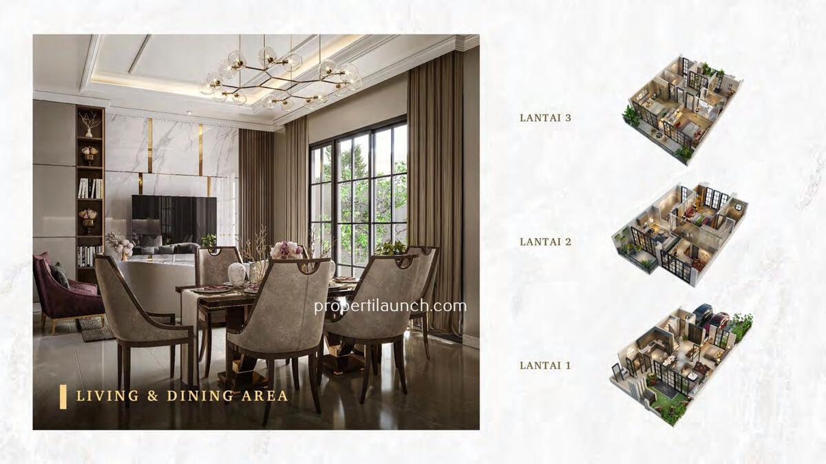 Living Room Rumah Bukit Podomoro Jakarta Tipe 8