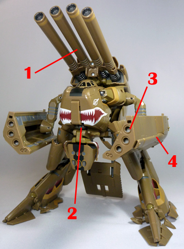 Macross Frontier VB-6 Koenig Monster König Konig Armament weapon position