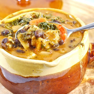 Black Bean, Sausage and Kale Soup