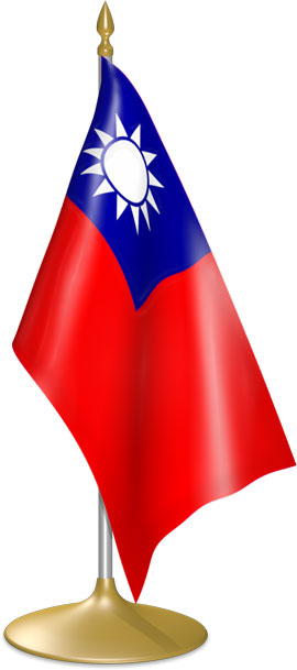 Taiwanese table flags - desk flags