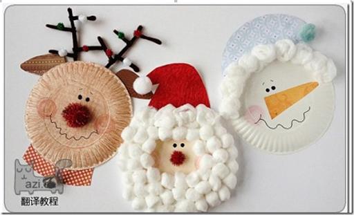 Manualidades navidad con platos de papel