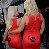 WWW.ENTSIMAGES.COM -    K-9 Angels  Pola and Victoria Eisermann    at     The BIG Party - Amika Mayfair, 43 South Molton Street, London July 16th 2013                                                  Photo Mobis Photos/OIC 0203 174 1069