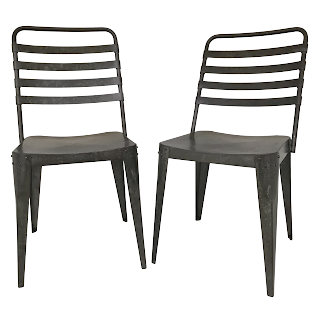 Industrial Style Side Chair Pair