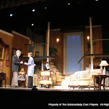 Richard Harte and Benita Zahn in THE ROYAL FAMILY (R) - December 2011.  Property of The Schenectady Civic Players Theater Archive.