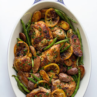 Braised Chicken with Green Beans and Potatoes.