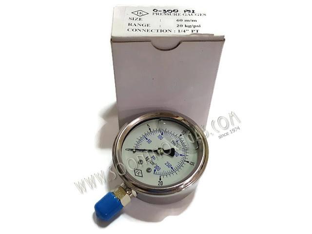 เกจ์น้ำมัน ( HIGH PRESSURE GAUGE )  IK  0-20 kg./cm2