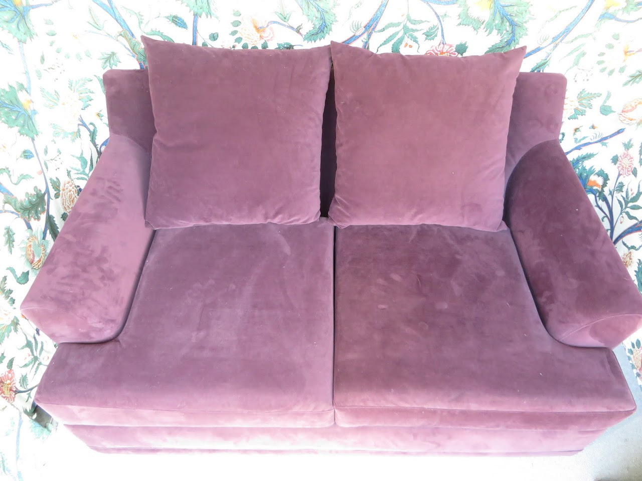 American Signature Purple Sofa