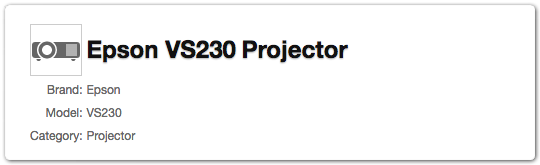 Product category - Projector
