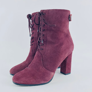 Saks 5th Ave Burgundy Boots