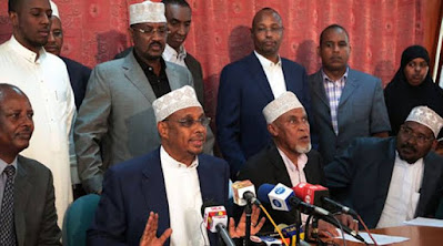 North-Eastern leaders led by Senator Mohammed Yusuf Haji backs Aden Duale, Photos, Images and Videos