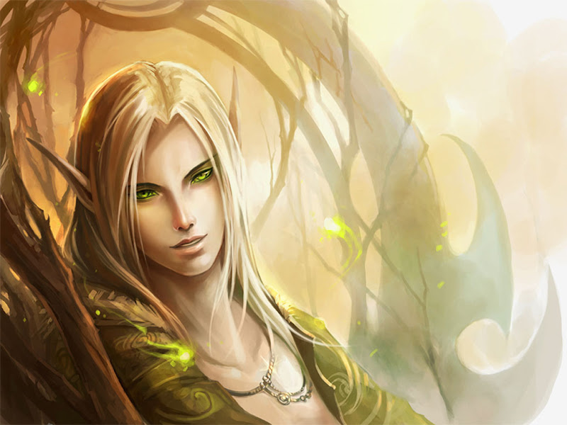 Elf With Green Eyes, Elven Girls