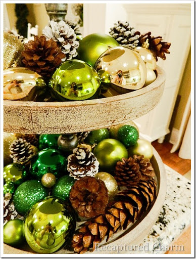 3 tiered platter christmas 1 & Recaptured Charm: 3 Tiered Platter/Stand