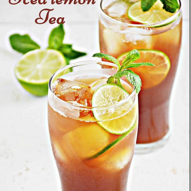Iced lemon tea / Ice tea with lemon