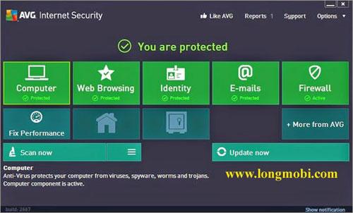 phần mềm diệt virut miễn phí AVG