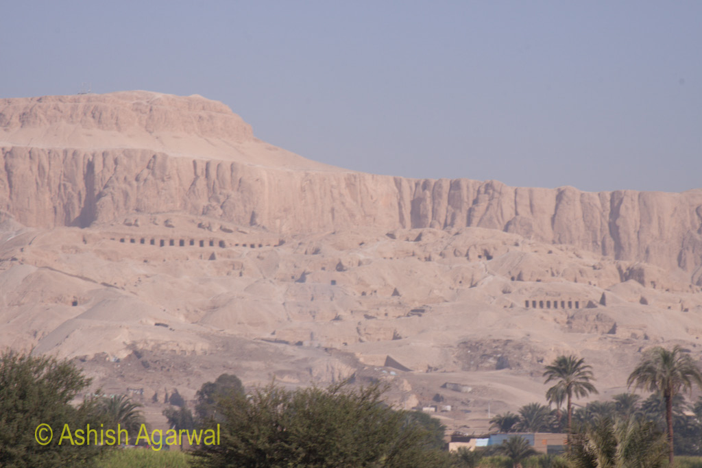 Tombs of nobles and family members of the pharaohs near the Valley of the Kings