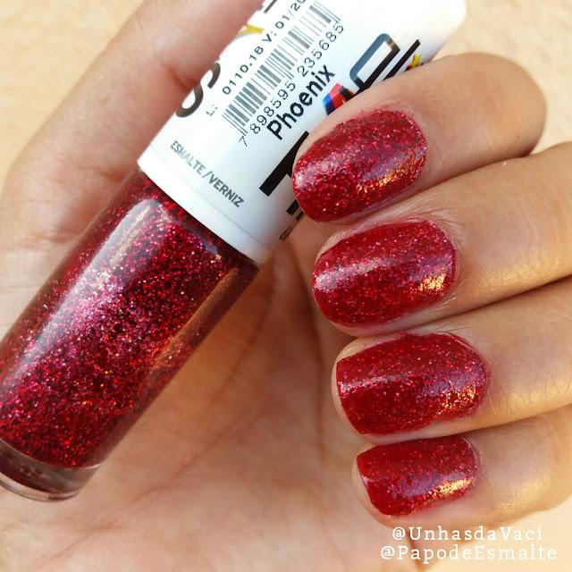 Esmalte da Vez: Phoenix Glitter Holográfico da Hits Speciallità