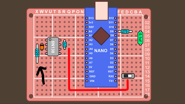Synth build guide MIDI circuit 11