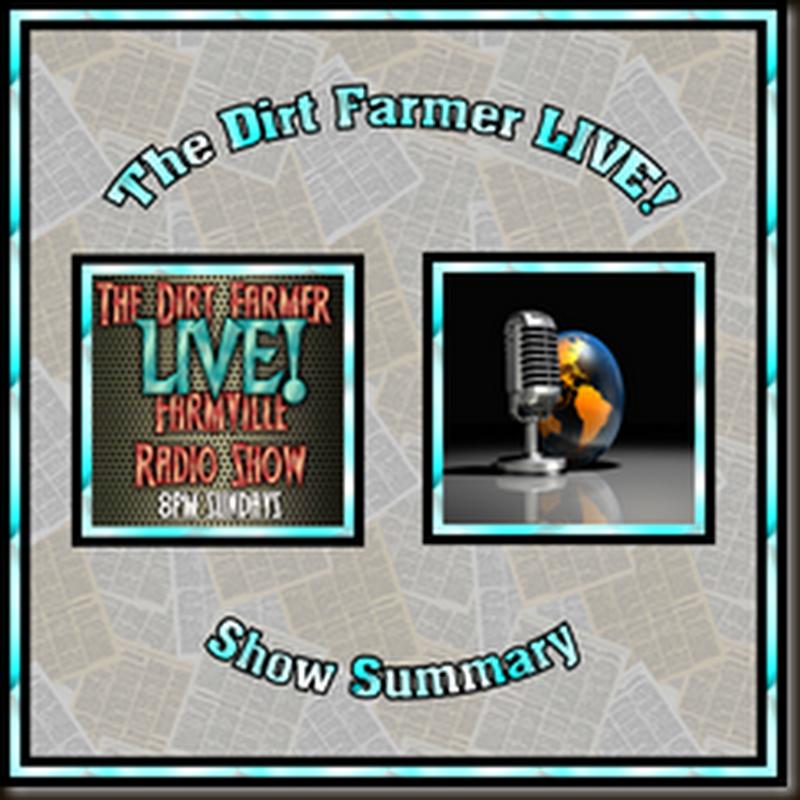 Dirt Farmer LIVE! Show Summary December 4, 2016