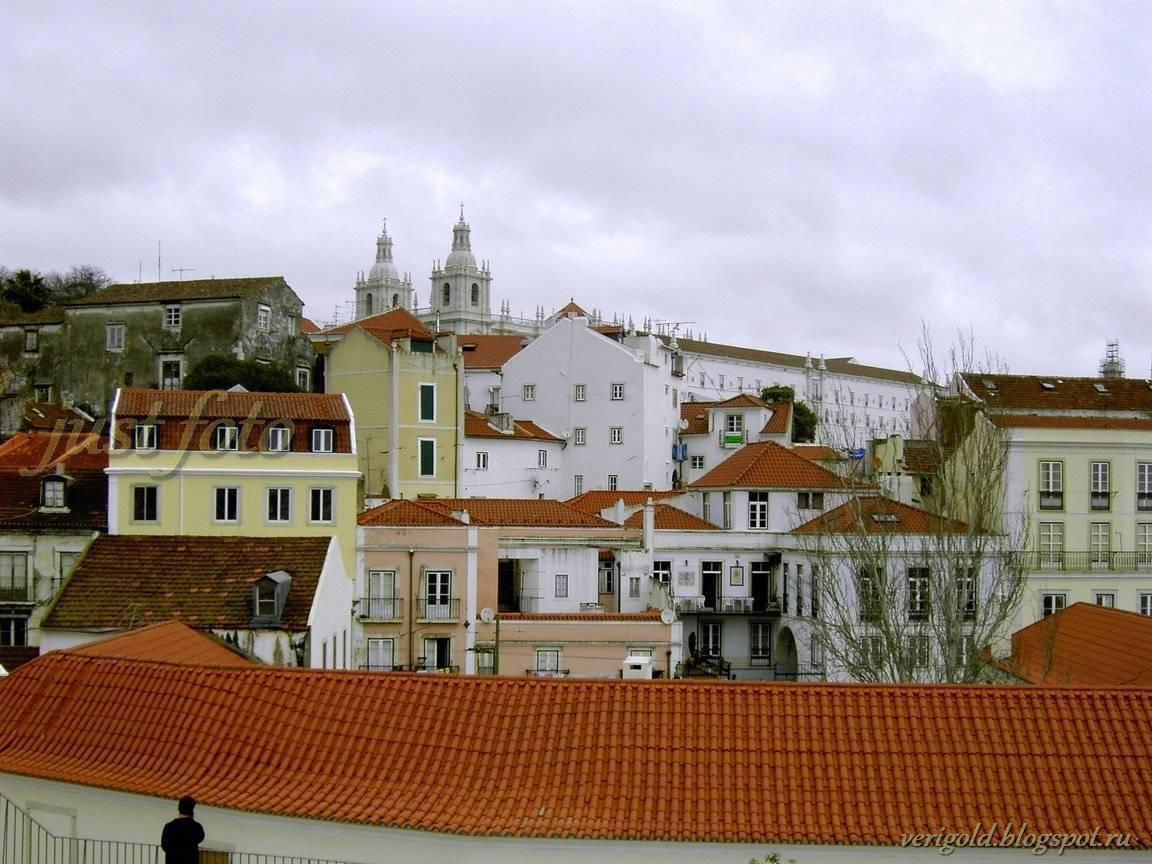 Алфама Лиссабон черепичные крыши фото