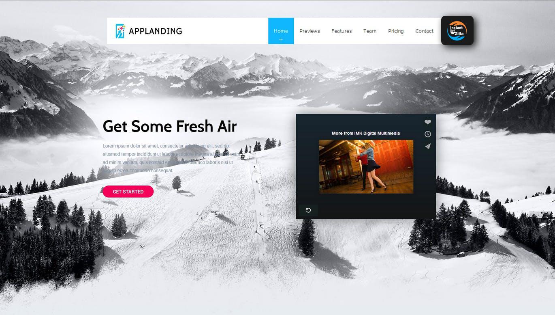 App Promotion-The Single Page App Promotion Theme