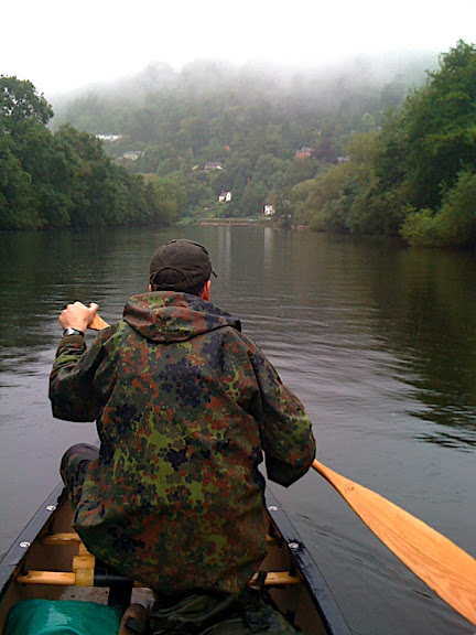 approaching the get-out point at Symonds Yat West
