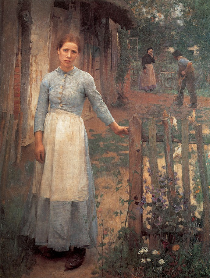 Sir George Clausen - The Girl at the Gate.