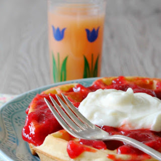 Strawberry Cheesecake Waffles