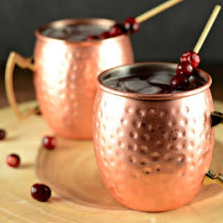 Cranberry Apple Moscow Mule Cocktail Drink.